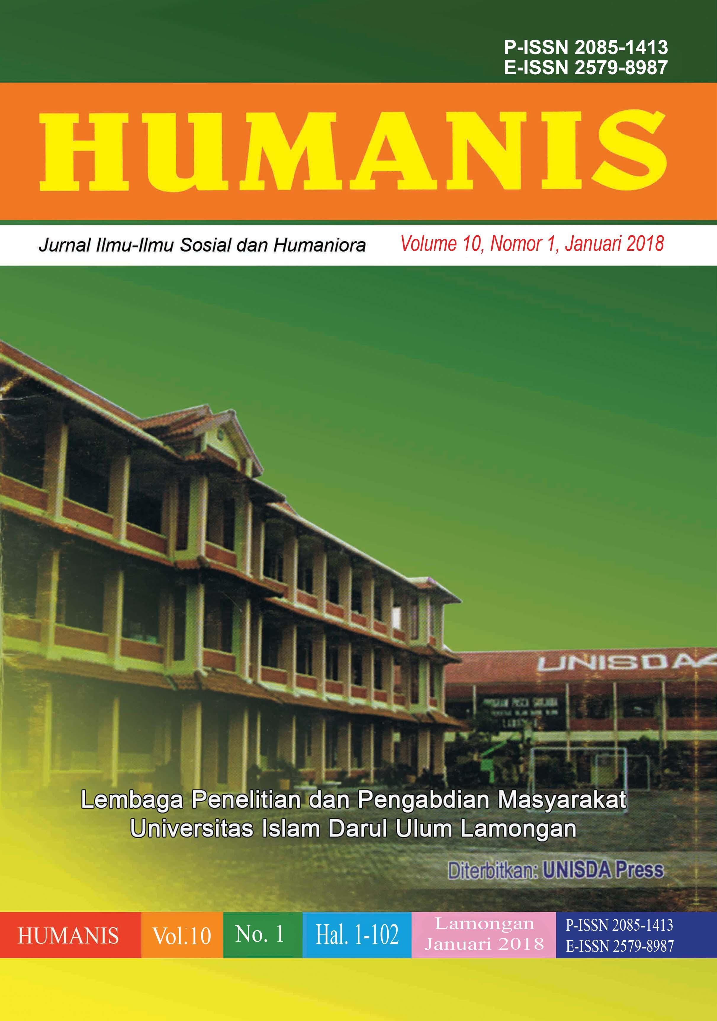 Humanis: Jurnal Ilmu-Ilmu Sosial dan Humaniora