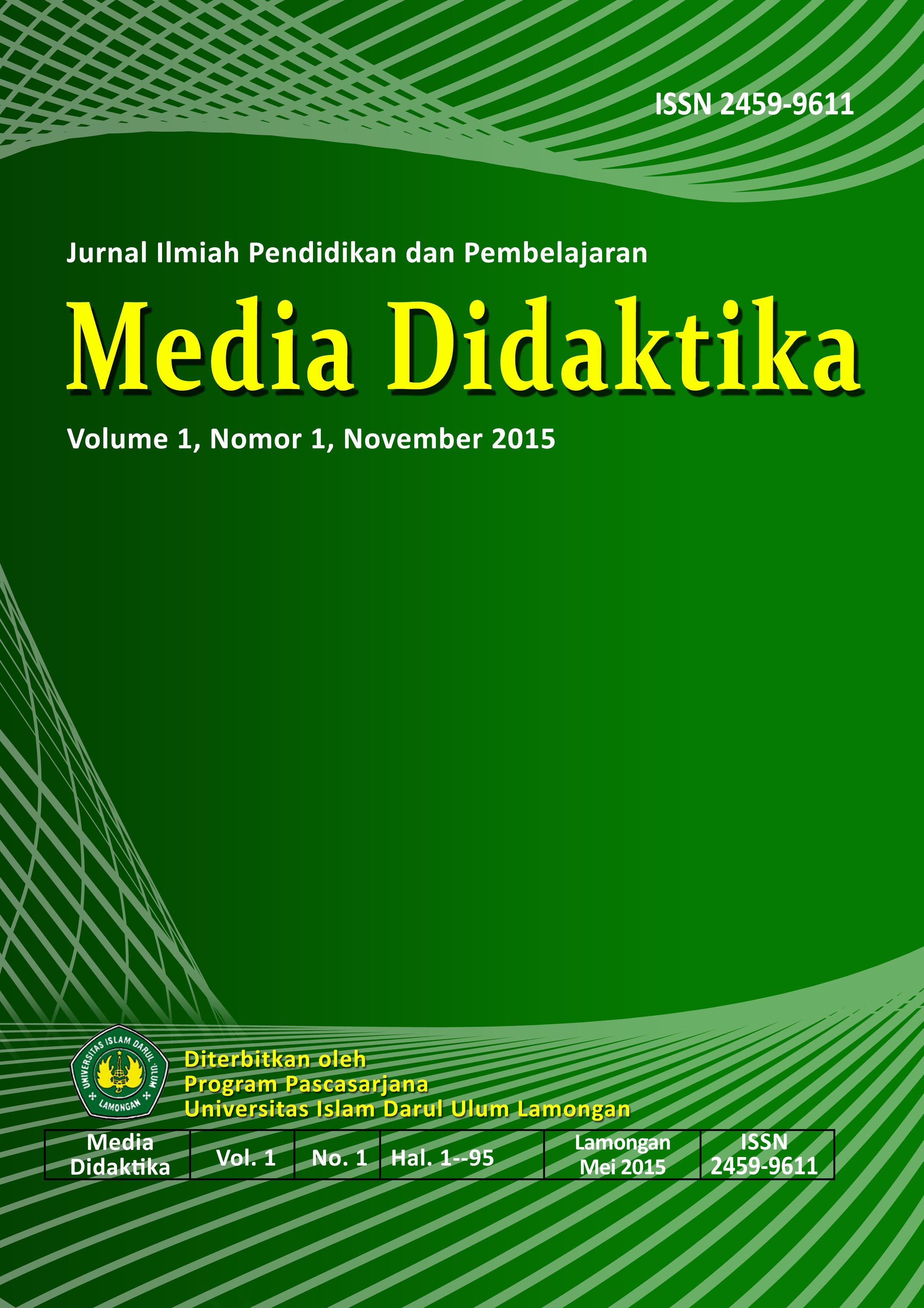 MEDIA DIDAKTIKA : Jurnal Ilmiah Pendidikan dan Pembelajaran